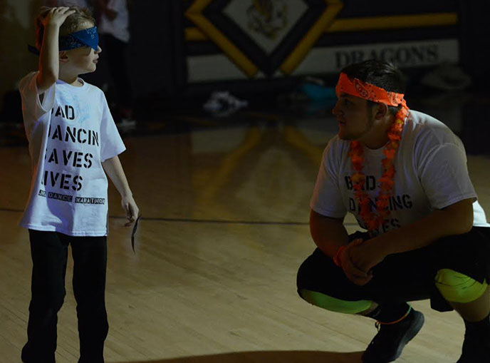 Students dance for charity