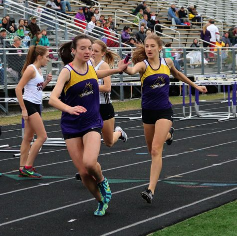 Varsity girls' track team competes at home meet