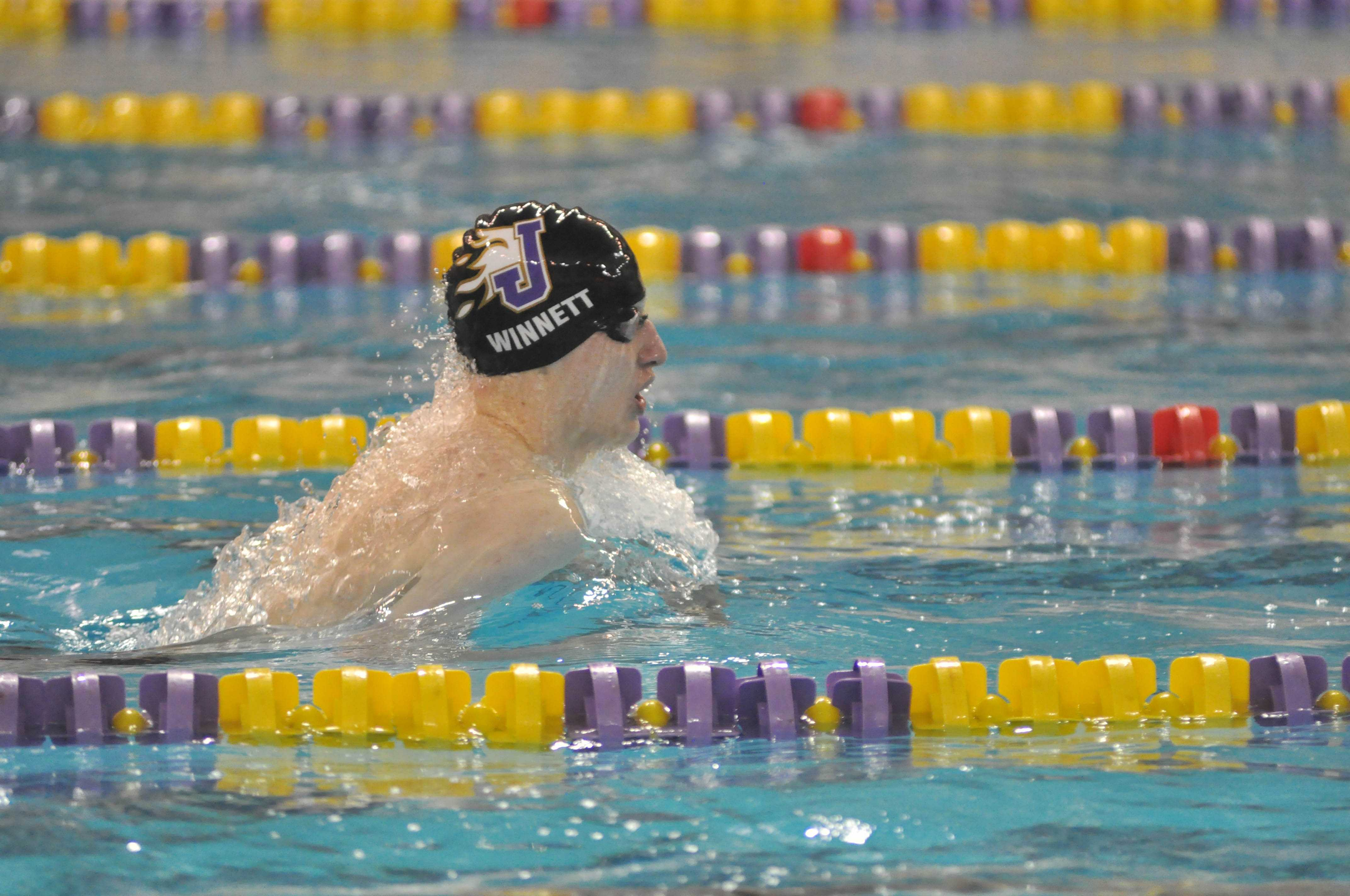 Justin Winnet during a meet against Valley.