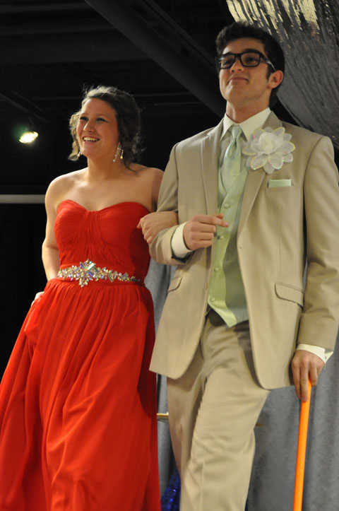 Students model for Stacy's Prom Fashion Show