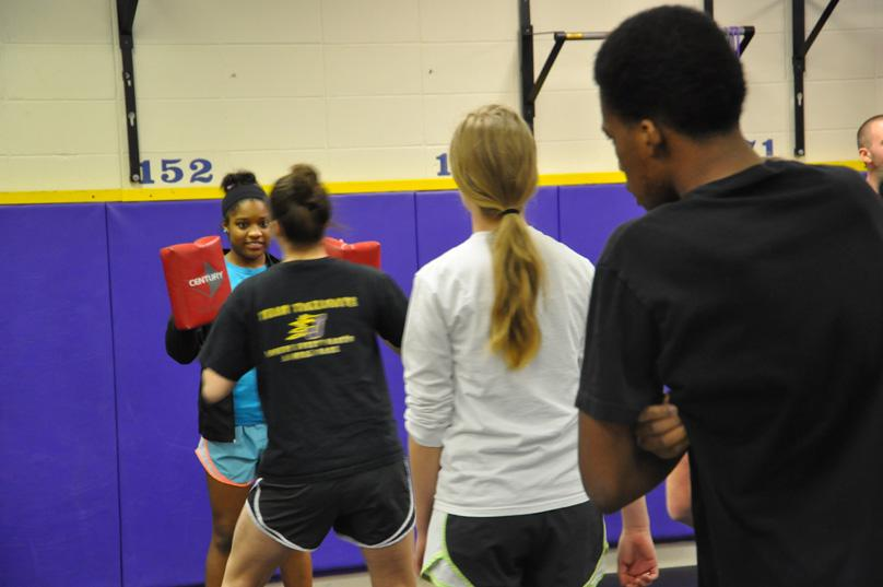 Students learn self-defense