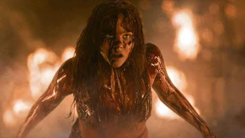 Chloe Grace Moretz as Carrie.