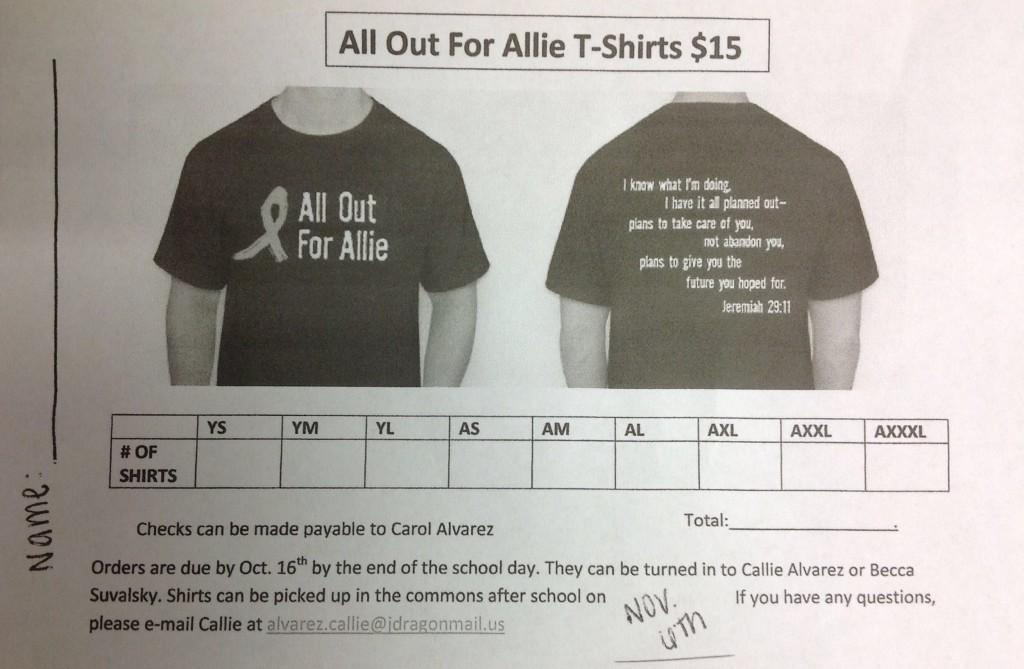 All+Out+For+Allie+T-Shirts