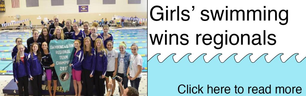 Girls' swimming wins regionals