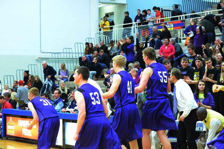 The boy's varsity team played at Urbandale last Friday. They defeated the J-Hawks 58-52.