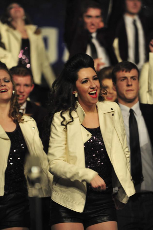 Senior Monica Gagne preformed with innovation at Showzam while photo club snapped pictures for Pat Ward during the event. The club annually helps Pat Ward at Showzam in return for a donation put towards a trip to Minneapolis.
