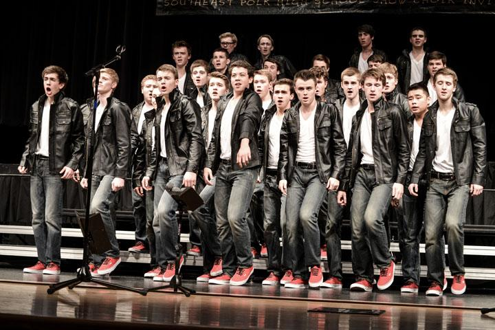 Innovation guys preform at their competition at Southeast Polk Feb. 28.  Innovation won grand champion for the fifth time this season.