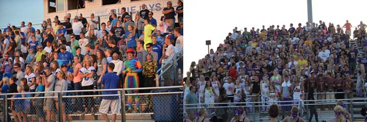On+the+left+Bondurant%27s+student+football+section+is+compared+to+the+student+section+of+Johnston%2C+on+the+right.+Bondurant+is+classified+as+2A+school+where+as+Johnston+is+a+4A+school.+The+students%27+attendance+shows+the+difference+in+the+size+of+the+schools.++