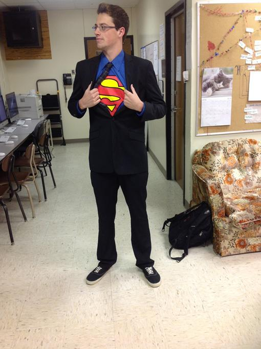 Senior Alex Clark, Superhero day