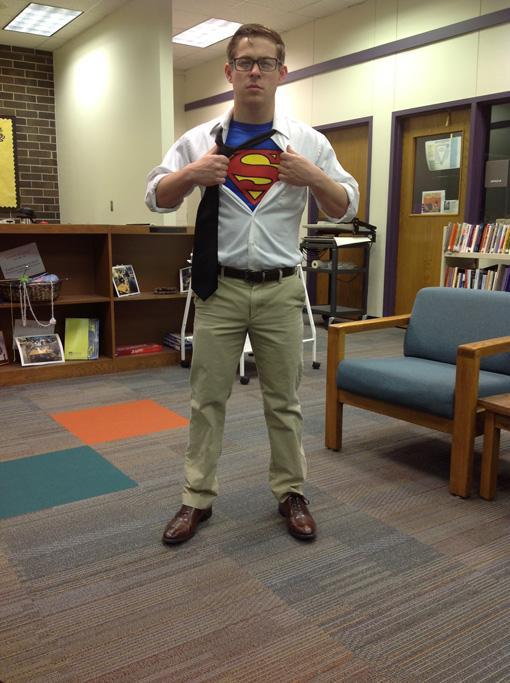 Senior Jon Caracci, Superhero day