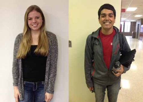 Kelsey Acheson and Andrew Boge will be the female and male speakers at the graduation ceremony on May 20.