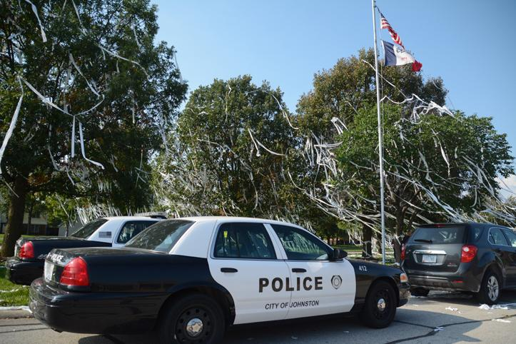 Johnston police officers are investigating the details of the vandalism from Thursday, Sept. 25. Multiple places on the campus were vandalized.