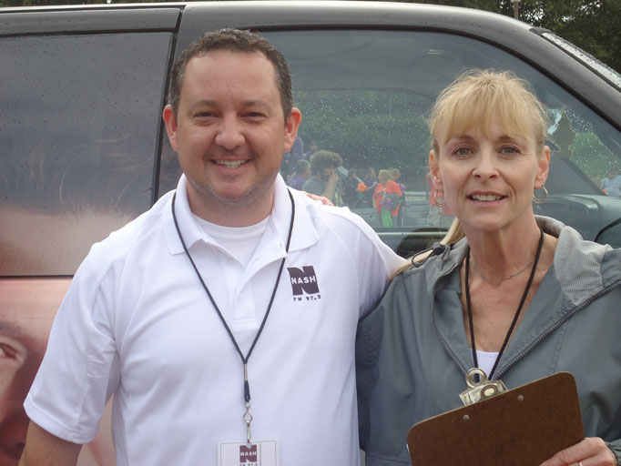 Local radio personalities Danger and Kim Chase host the walk in support of family members. Danger and Kim are hosts on NASH 97.3.