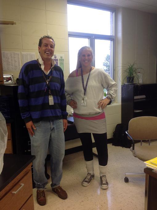 Teachers Chris Siewert, Sara Howe
