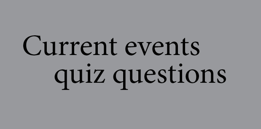 Current event quiz questions answered