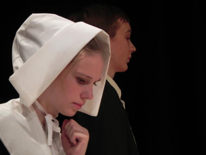 Sophomore Katie Saf plays Mary Warren who works for the Proctor family. In the play she is accused of witchcraft along with many others. The Crucible was performed Nov. 7, 8, 9.