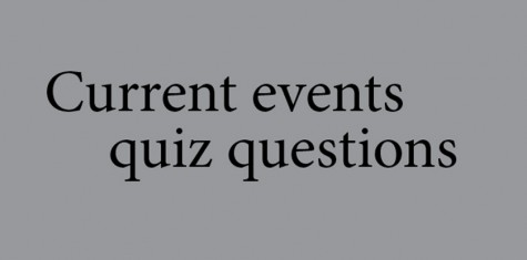 Current event quiz answers