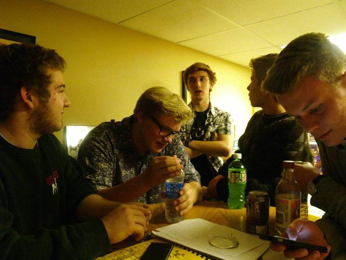 515 band members hang out while discussing their music.