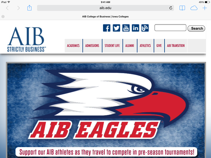 A+screen+shot+of+AIB%27s+website.+AIB+will+be+merging+with+the+University+of+Iowa.