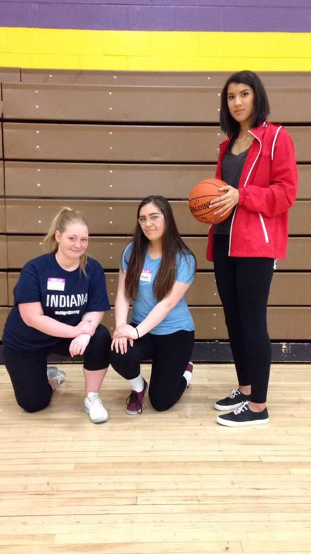 Seniors Betsy Coy, Alize Olson and Gabby Escoto dress as cast members from the TV series