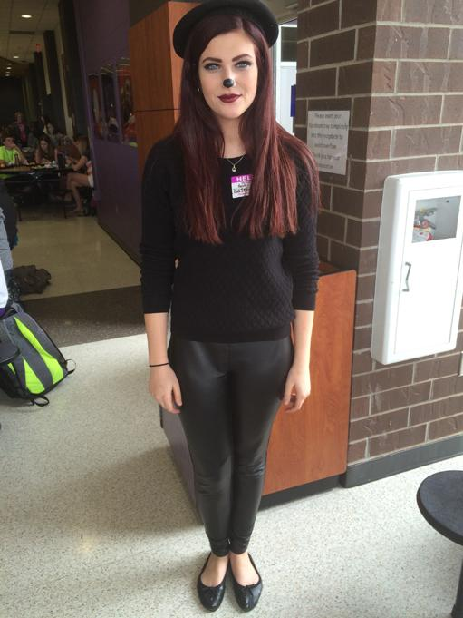 Senior Kate Minney dresses as Beret Girl from the Disney movie