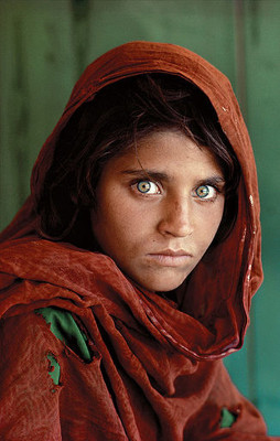 """""""Afghan Girl"""" by Steve McCurry from Wikipedia, originally by National Geographic"""