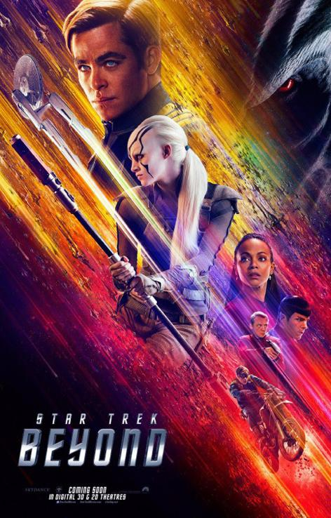 Star Trek Beyond movie poster. Star Trek Beyond was released in theaters July 22.