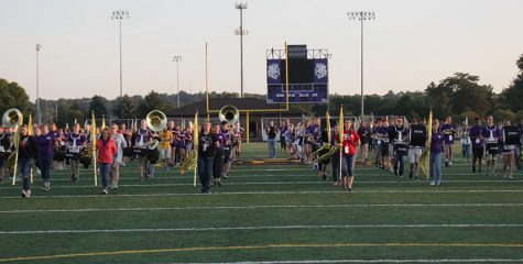 Every day the the marching practices in a basics block. They are on the field by 7 a.m.