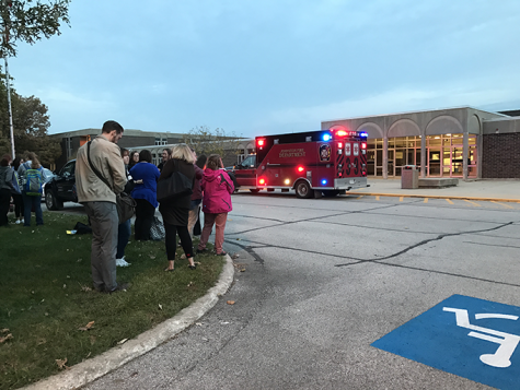 Fire alarm blares before school