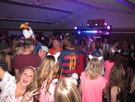 Students dance at the Lions Club. The party raised an estimated $2,000.