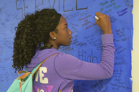 Students honor fallen officers