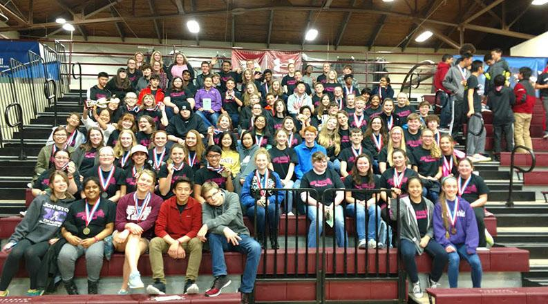 Johnston Science Olympiad teams competed at Coe College in Cedar Rapids, Iowa.