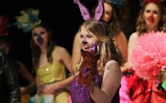 Sour Kangaroo (played by Abby Kate Boeschen '19) declares she will help to protect the Whos. Suessical performances were April 21, 22 and 23.