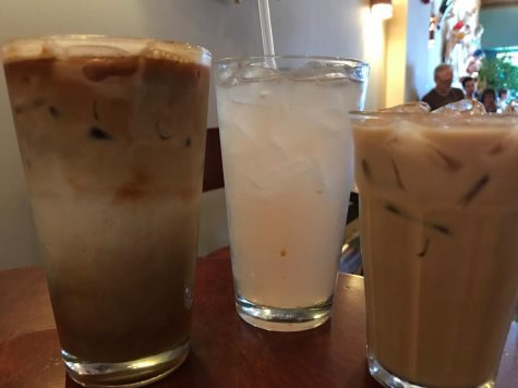 From left to right: Zippy Chai Tea, Rose Lemonade, and Sweet Cream Coffee. Zanzibar