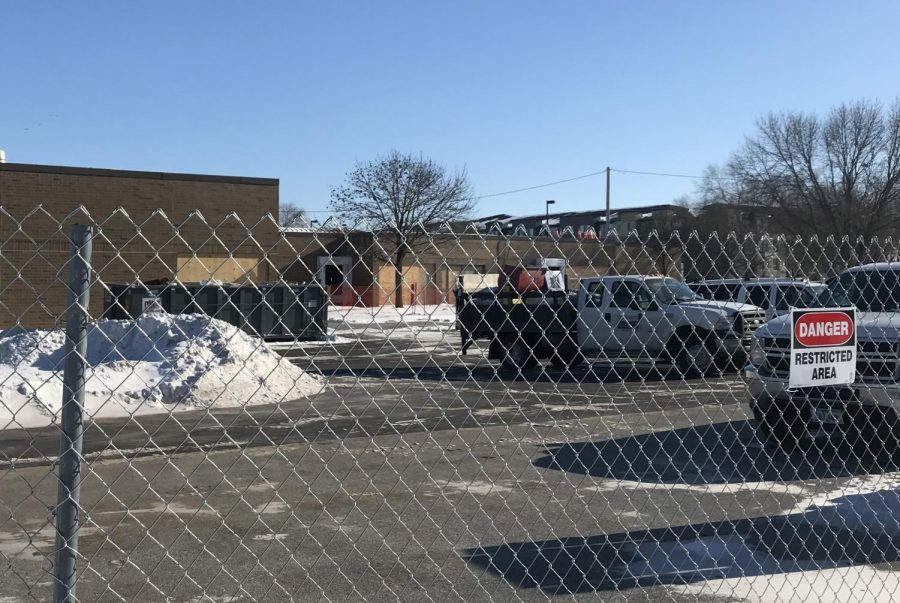 The new walls of Wallace Elementary