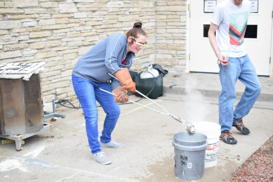 Clay II students try Raku