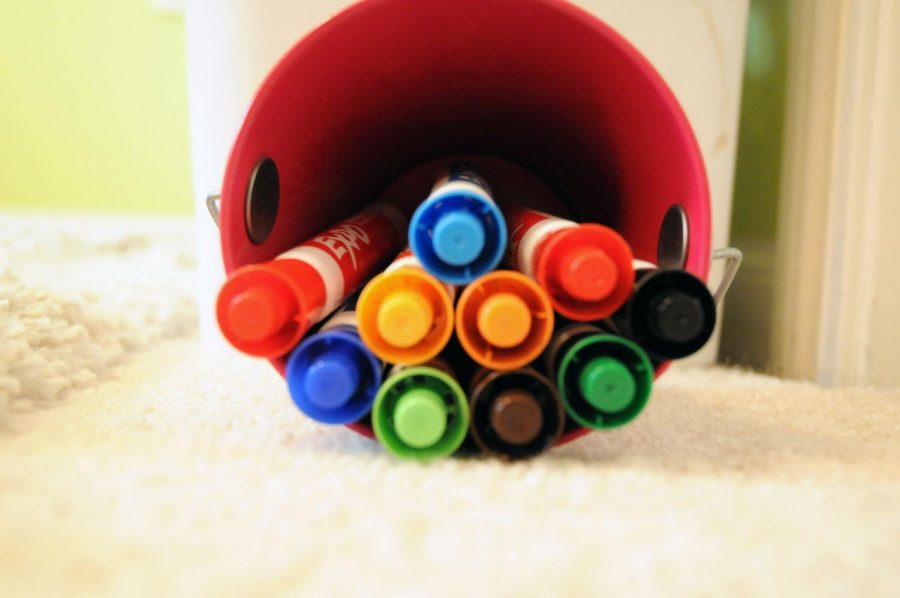 Spanish teacher Nora Olguin uses Expo markers quite frequently in her classroom.