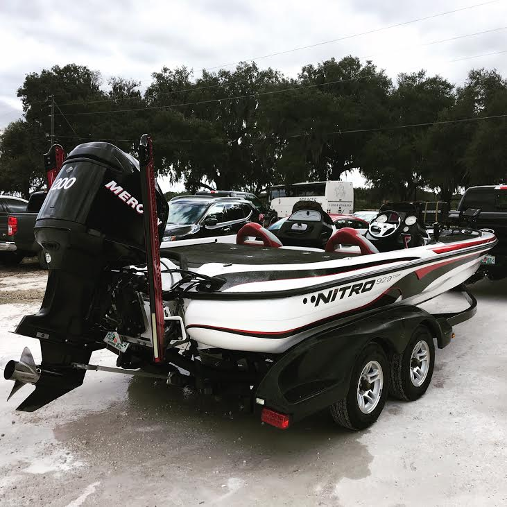The new boat recently purchased by Johnston Fishing Club coach, Justin Lewis. Lewis flew to Tampa, Florida in order to inspect and purchase the boat. (This picture was provided by Justin Lewis.)