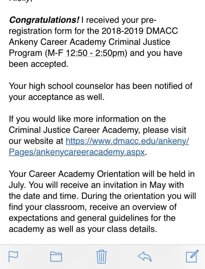 An+email+of+an+acceptance+into+DMACC%27s+Criminal+Justice+Program.