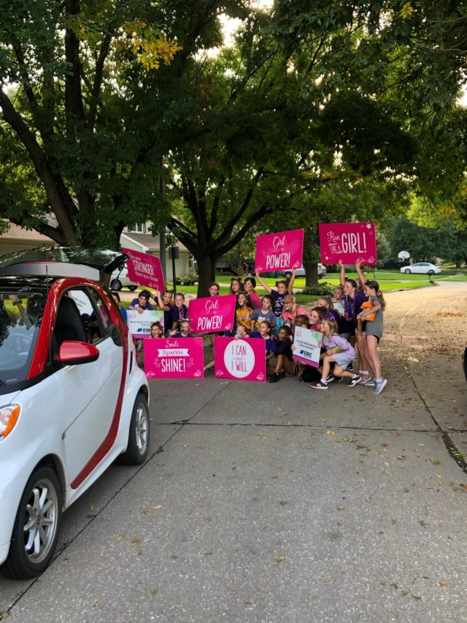 A lot of young students promoting Girl Power at the parade last Thursday.