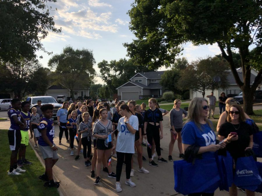 Dance Vision has participated in the homecoming parade for many years now. This year they spiced it up by adding flags to their annual dance routine since the theme for the homecoming dance was Around the World.