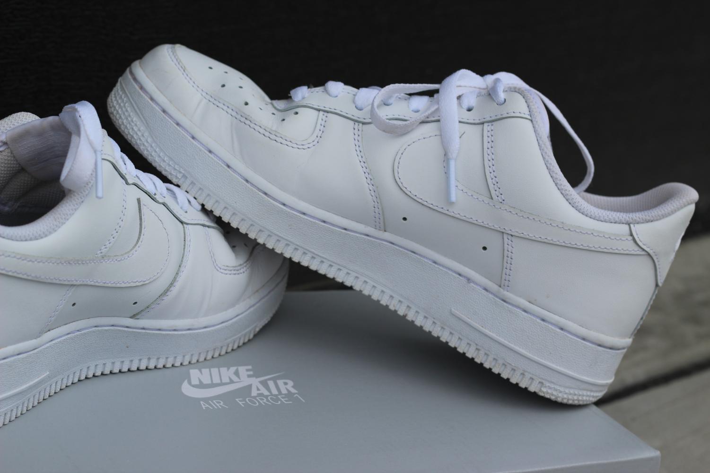 Low top Nike Air Force 1's.