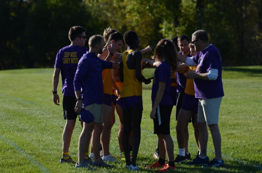 The runners and coaches meet on the course minutes before the CIML conference meet. They placed third at conference and second at districts.