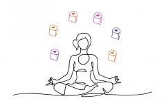 Instead of panicking over a lack of toilet paper in stores, try meditating or exercising to calm the mind.