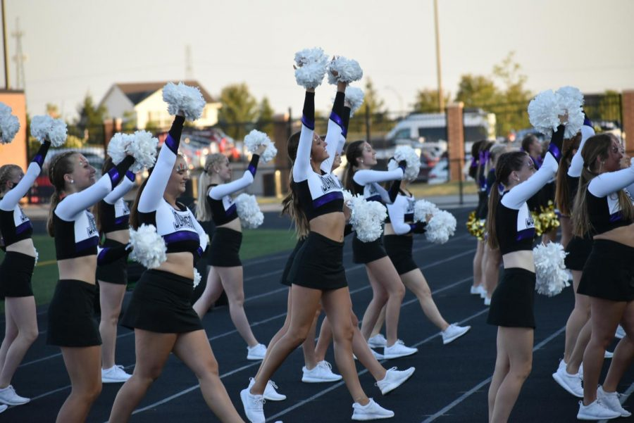 The Johnston Dance team, helping to create enthusiasm and sprit.