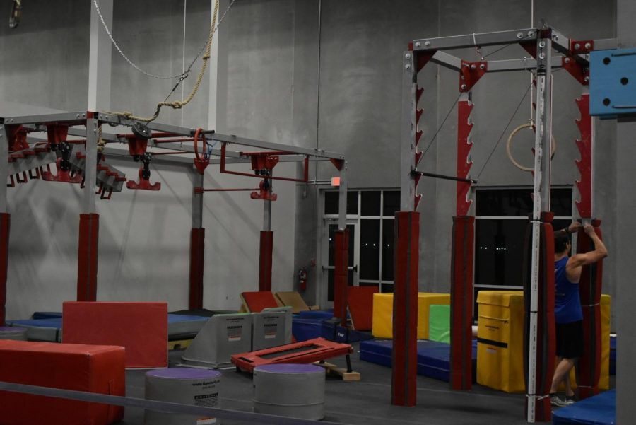 The Ninja Warrior side of the Emerge Academy facility. Several large complexes are set in place, however, stationary blocks scatter the facility, allowing for constant course rebuild for a refreshing experience each time.