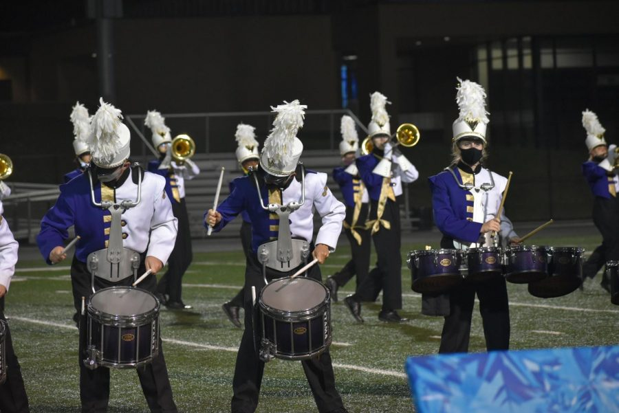 JHSVMB Drumline finishing out the rest of their show.