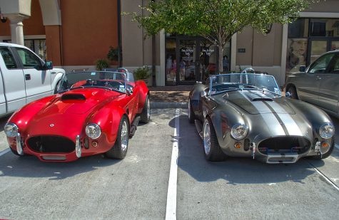 These two cars are Carroll Shelby Cobras.