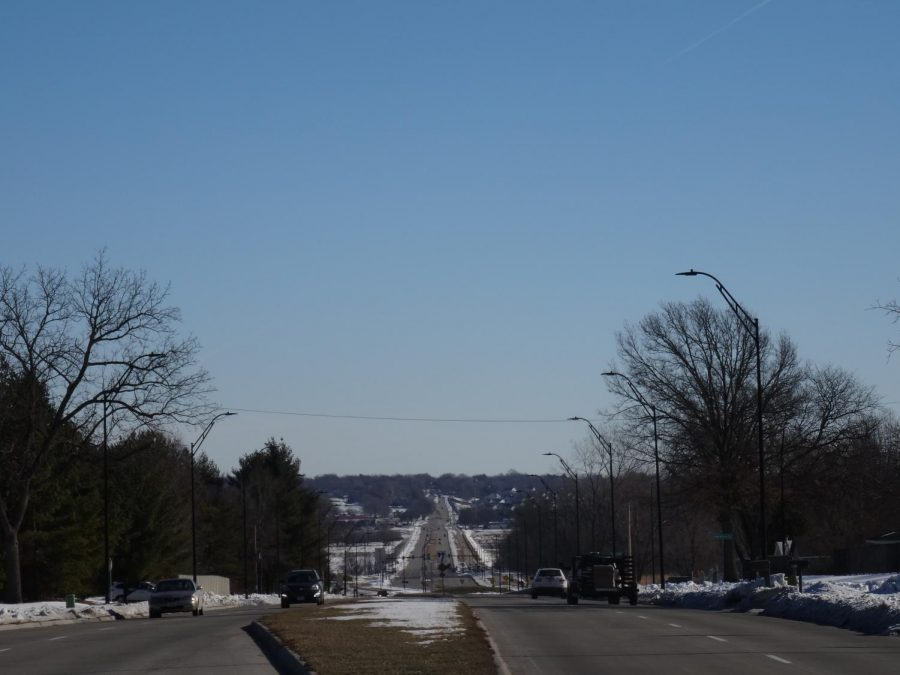 This picture was taken of 70th St at the intersection of 70th St and 100th St.